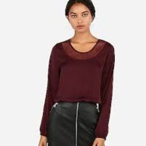Express Lace Inset Tie Back Top NWT